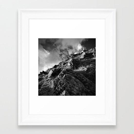 Up The Hill Backwards Framed Art Print