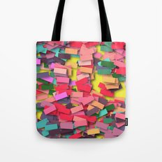 pink colored bricks Tote Bag