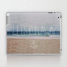 Let's Run Away   Sandy Beach, Hawaii Laptop & iPad Skin