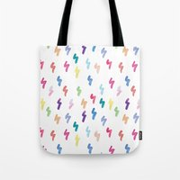 Rainbow Lightning Tote Bag
