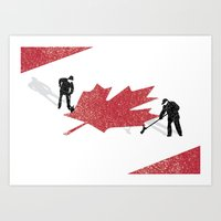 Snow in Canada Art Print