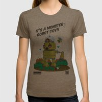 Monster Robot Toy Womens Fitted Tee Tri-Coffee SMALL