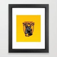 Storm' End Stags Framed Art Print