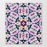 Kaleidoscope Flowers  Canvas Print