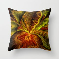 Autumn Orchid Throw Pillow