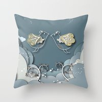 Blue Kiss In Spring Throw Pillow