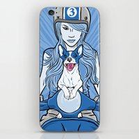 Scooter Girl iPhone & iPod Skin