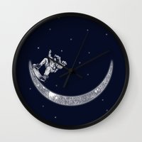 Skate in space Wall Clock