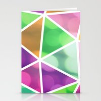 vivid dodecahedron Stationery Cards