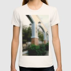 Plaza de Rincon Womens Fitted Tee Natural SMALL