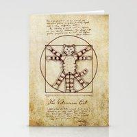 Vitruvian Cat Stationery Cards