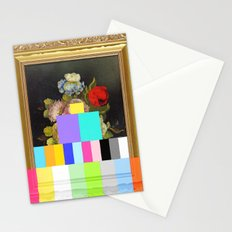 A Painting of Flowers With Color Bars Stationery Cards