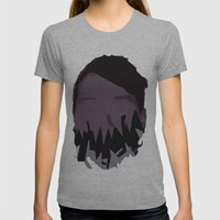 Monster Face 1 Womens Fitted Tee Athletic Grey SMALL