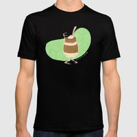 Strawberry Mocha Parfait Mens Fitted Tee Black SMALL