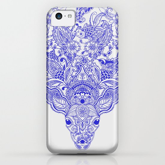 Little Blue Deer iPhone & iPod Case