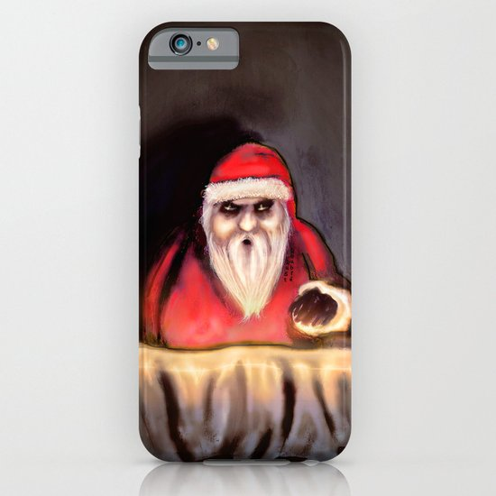Black Xmas: Santa Claus is Here iPhone & iPod Case