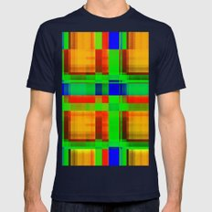 Abstract 08 Mens Fitted Tee Navy SMALL