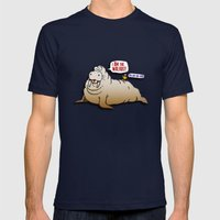 I AM The Walrus! Mens Fitted Tee Navy SMALL