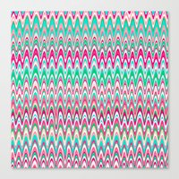 Making Waves Pink and Preppy Canvas Print