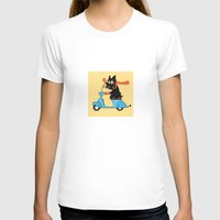 Scottie And Scooter Womens Fitted Tee White SMALL