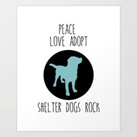 Shelter Dog And Rescue A… Art Print
