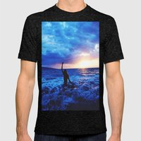 Sunset Swimmer Mens Fitted Tee Tri-Black SMALL