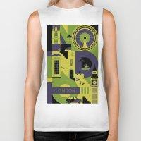Biker Tank featuring London by koivo