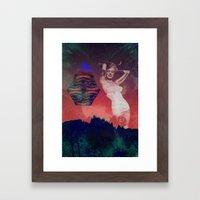 False Colored Eyes Framed Art Print