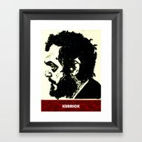 Kubrick Portrait Framed Art Print