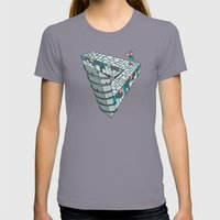 Up And Down City Womens Fitted Tee Slate SMALL