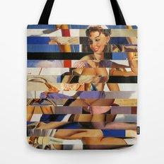 Glitch Pin-Up Redux: Sophia Tote Bag