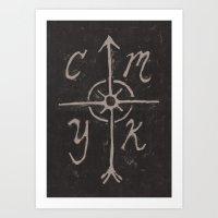 CMYKompass Art Print