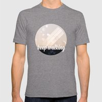 Keep Walking Mens Fitted Tee Tri-Grey SMALL
