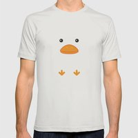 Duck Mens Fitted Tee Silver SMALL