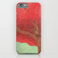 iPhone & iPod Case featuring red tree by Sofia Mansilla