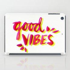 Good Vibes – Pink & Yellow iPad Case