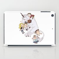 teens and wolves and unicorns iPad Case