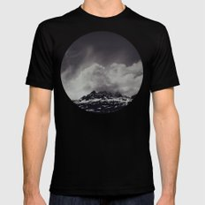 Mountainscape Black and White SMALL Mens Fitted Tee Black