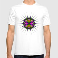 Circular Pattern Mens Fitted Tee White SMALL