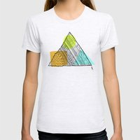 Triangle Doodle Womens Fitted Tee Ash Grey SMALL