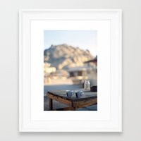 on the edge of the world Framed Art Print