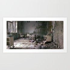Chernobyl - дім Art Print
