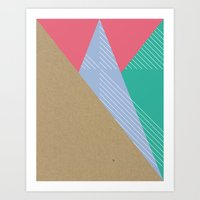 Cardboard & Combo Stripes Art Print
