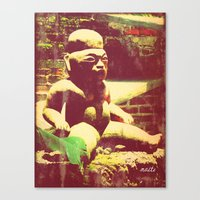 Mayan Figurine Canvas Print