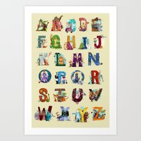 The Animals' Alphabet Art Print