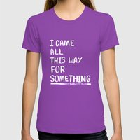All This Way Womens Fitted Tee Ultraviolet SMALL