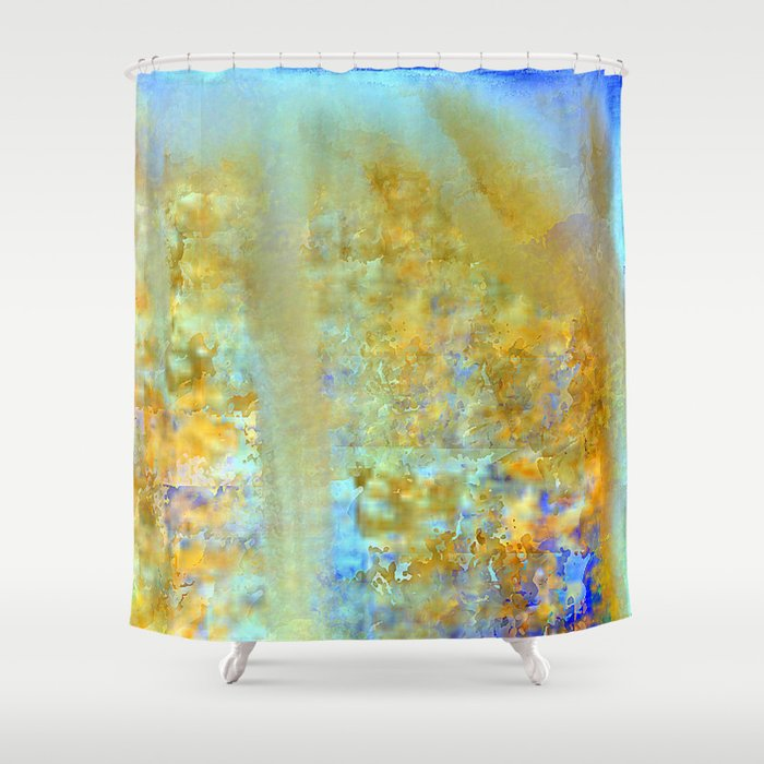 land under water abstract shower curtain by jessielee