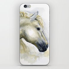 Horse Watercolor Painting   Animal Illustration iPhone & iPod Skin
