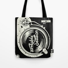 turntable session Tote Bag