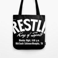 B&W Wrestling Logo Tote Bag